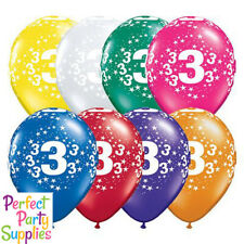 3rd Birthday Star 1x 28cm Balloon Party Supplies Decorations Red Blue Purple