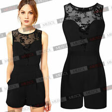 Sexy Womens Lace Playsuit Party Evening Summer Two Piece Jumpsuit Dresses