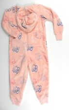 Me To You Tatty Teddy Girls Pink Fleece Hooded Zip All-in-One Onesie Brand New!