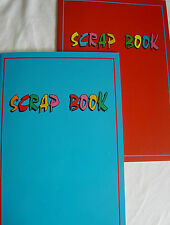 Scrap book, A4 size (pages slightly larger), Red or Blue, 32 pages, Brand New