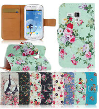 Flower Hybrid Flip Wallet card slot PU Leather Stand Case Cover Skin for phones