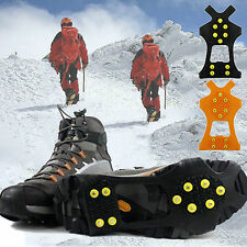 Ice Snow Stud Overshoes Spikes Anti-Slip Grippers Crampons Cleats Grips Hiking