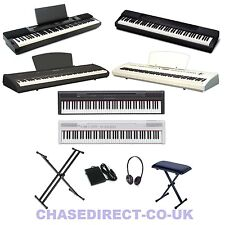 Digital Portable Stage Piano Electric Keyboard Chase Yamaha + Stand Bench