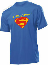 SUPERDADDY T-shirt SUPER DAD SUPERMAN For Birthday Gift Fathers Day Present