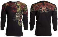 Xtreme Couture AFFLICTION Mens THERMAL T-Shirt TELEPHUS Tattoo Biker S-3XL $58