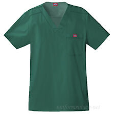 Dickies Scrub Top Mens MEDICAL SCRUBS Youtility V-neck Shirts Chest Pocket 81722