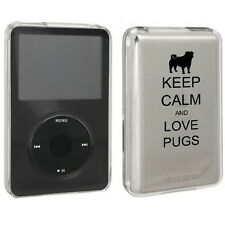 For Apple iPod Classic Hard Case Cover 80 120 160gb Keep Calm and Love Pugs