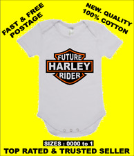 BABY ONE PIECE, ROMPER. ONESIE. printed with FUTURE HARLEY RIDER  brand new