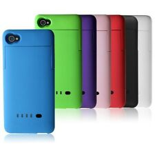 1900mAh External Rechargeable Battery Backup Charger Case Cover For iPhone 4 4s