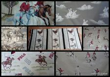 FABRIC GAME  POLO HUNTING HORSES STAG ANIMAL TOP QUALITY pieces French pics list