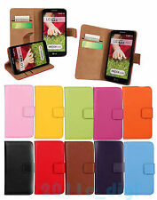 Wallet Pouch Card slot stand hold Genuine leather cover case for LG phones