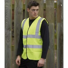 (Free PnP) Warrior Mens High Visibility Safety Waistcoat / Fluorescent Work Vest