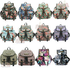 Anna Smith Designer Flower/Aztec/Cosmos Print Multicolour Rucksack/Backpack