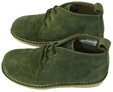 Roamers LADIES Real Suede DESERT BOOTS Non Slip Sole - FOREST GREEN