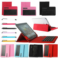 """Wireless Bluetooth Keyboard Leather Case Cover For 9.7"""" - 10.1"""" inch Tablet PC"""