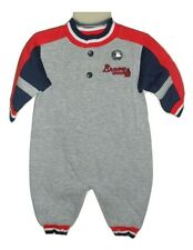 Atlanta Braves Baby Creeper Coveralls One-Piece Romper Sizes 3-9 Month MLB New