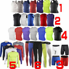 Men's Body Armour Casual Compression Wear Base Layer Under Shirts Skinny Tee LOT