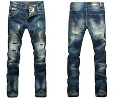 Men Italy Fashion Distressed Jeans  783 Size 28-40 Destroyed Ripped Biker Pants
