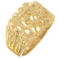Men's Fancy Solid 14k Gold Filled Classic Nugget Style Real Heavy Plated Ring