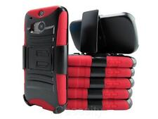 RED RUGGED HEAVY DUTY HYBRID CASE + BELT CLIP HOLSTER FOR VARIOUS PHONE MODEL