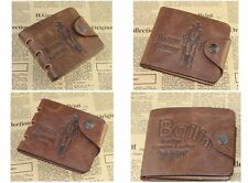 Leather Wallet Pockets Card Clutch Cente Bifold Purse Money Clip Card Holder one