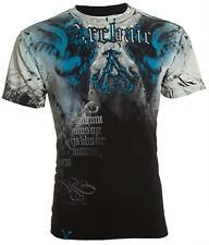 Archaic AFFLICTION Mens T-Shirt NIGHTWATCHER Skulls Tattoo Biker UFC M-4XL $40 b