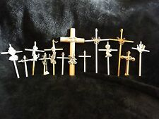NEW VINTAGE GOLD & SILVER CROSS DECOR FOR COMMUNION, ANNIVERSARY & OTHER, U PICK