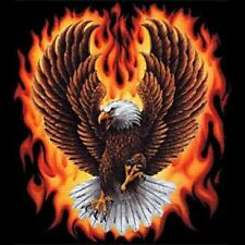 Eagle With Flames T-Shirt Wings Spread DISCONTINUED