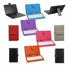 "Tablet Keyboard Cover for 7"" Android Micro USB Synthetic Leather Seven Colors!"