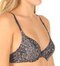 Maidenform One Fab Fit Demi Underwire Bra #7959 Party on Python Gray NWT