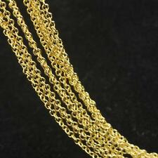 "10Pcs 16-30"" 18K Yellow Gold Filled ROLO Link Necklace GF Chain Jewelry Findings"
