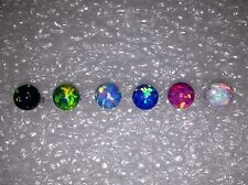 Tongue Ring Barbell 6mm Opal Stone 14G 16mm Length Various Colors