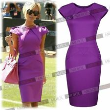 2014 New Womens Ladies New Cele Style Purple Offices Business Bodycon Dresses