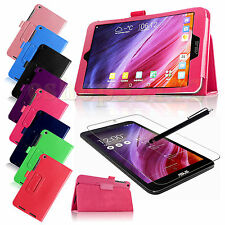 Folio PU Leather Case Smart Cover For ASUS MeMO Pad 8 (8 inch, ME181C)+Pen+Film