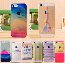 Ultra-thin Cute Pattern Painted TPU Hard Back Skin Case Cover For iPhone 6 5 5S