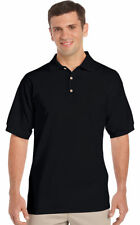 Gildan Men's Three Button 100% Cotton Welt Collar Polo T-Shirt, 6-Pack. 2800