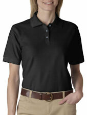 UltraClub Women's Easy Care Topstitching Whisper Polo Shirt, 12-Pack. 8541