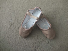 Pink leather dancers dance split sole ballet shoes  - various sizes