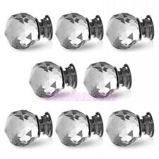 New Crystal Glass Door Knobs Drawer Cabinet Kitchen Pull Handle Stock 30mm