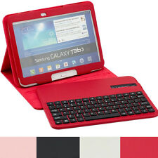 leather Case with bluetooth keyboard for Samsung Galaxy Tab 3 10.1 P5200 P5210