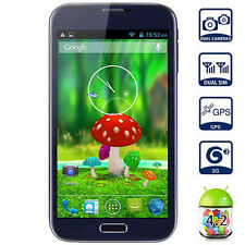 "6.0"" 3G GPS Unlocked 2Sim Quad Core Android Smart Cell phone AT&T Straight Talk"
