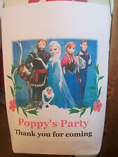 Personalised Handmade Frozen Party Bags / treat bags / favour Bags