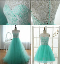 Long / short Tulle Evening Prom Bridesmaid Dress Formal Ball Gowns 6 - 16