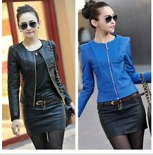 Spring women's leather clothing female slim PU motorcycle leather jacket coat