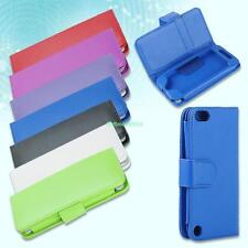 ID Card Holder Wallet Faux Leather Flip Case Holster For iPod Touch 5th 5G 5Gen
