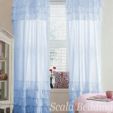 100% Egyptian Cotton Rod Pocket Ruffled Valances All Sizes All Colors Curtains