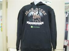"Mens John Deere ""Deere Country"" Long Sleeved Hoodie (Black)"