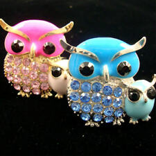 OWL RING/ MOMMY & ME/TWO TONE COLORS/CRYSTAL STONE/BUY 2 FOR 7.99
