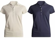 New $48 Joan Vass Studio Cotton Pique Polo Shirt - Short Sleeve, 100% Cotton