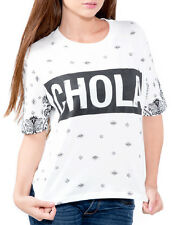 Chola Bandana Paisley Gangster Thug Boyfriend Loose Tee Shirt Hip Hop Apparel